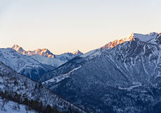 Mountains winter sunrise Royalty Free Stock Photography