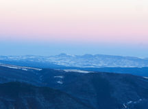 Mountains winter sunset Royalty Free Stock Photography
