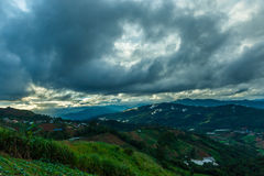Mountains& x22 da paisagem; dao& x22 do ing de segunda-feira; A área de Chiang Mai é o cume no distrito da vila de Hmong Imagem de Stock