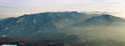The mountains. In the yellow daylight Royalty Free Stock Photography