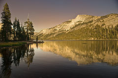 Mountains of Yosemite National Park. The vast beauty of the Yosemite mountains at sunset in the Yosemite National Park in California stock photos