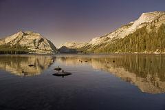 Mountains of Yosemite National Park. The vast beauty of the Yosemite mountains at sunset in the Yosemite National Park in California royalty free stock photography