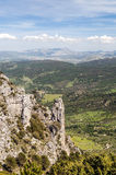 Mountains of Zahara in vertical Royalty Free Stock Image