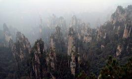 The mountains of zhangjiajie stock photography