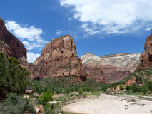 Mountains in Zion. Angel´s Landing mountain in Zion National Park Royalty Free Stock Image