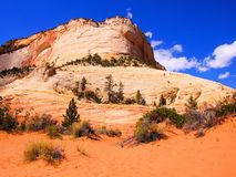 Mountains of Zion National Park Royalty Free Stock Images