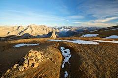 Mountainscape al tramonto Immagine Stock Libera da Diritti