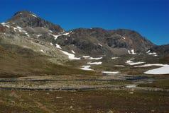 Mountainscape along the Nordkalottleden Royalty Free Stock Photography