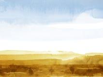 Mountainscape da aguarela ilustração royalty free