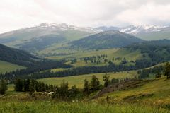 Mountainscape in East Kazakhstan Royalty Free Stock Photos