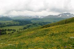Mountainscape in East Kazakhstan Royalty Free Stock Images