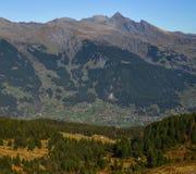 Mountainscape of Grindelwald, Switzerland stock photography
