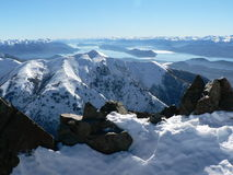 Mountainscape magico, Patagonia Fotografia Stock