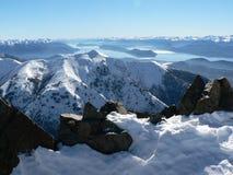 Mountainscape magique, Patagonia Photographie stock