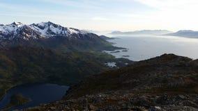 Mountainscape norvegese Immagini Stock Libere da Diritti