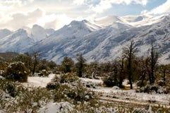 mountainscape patagonian χειμώνας Στοκ φωτογραφίες με δικαίωμα ελεύθερης χρήσης