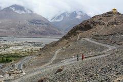 Mountainscape van Ladakh, het Noorden van India stock foto's