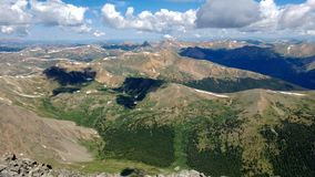 Mountainscape. View of mountains in colorado Royalty Free Stock Images