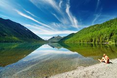 Mountainsee Lizenzfreies Stockbild