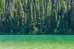 Mountainsee in den Bergen am sonniger Tagbritisch-columbia Kanada Lizenzfreie Stockfotografie