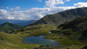 Mountainsee, gelber See Lizenzfreies Stockfoto