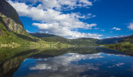 Mountainsee, Norwegen Stockbilder