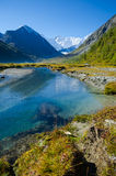 Mountainsee, Russland, Altai-Republik Stockfotografie