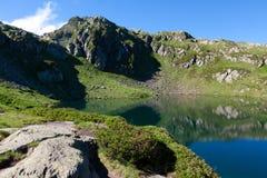 Mountainsee von Chamonix lizenzfreie stockbilder
