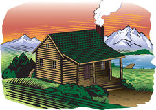 Mountainside Cabin Royalty Free Stock Image