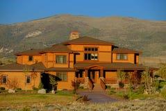 Mountainside Colorado house Stock Photos