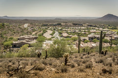Mountainside Desert valley community Stock Images