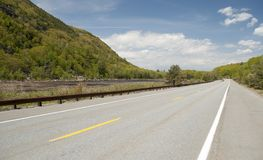 Mountainside Road In Maine Royalty Free Stock Photography