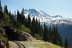 Mountainside Tunnel Stock Photo