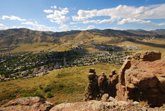 Mountainside View of Golden Colorado Stock Photo