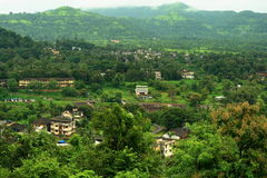 Mountainside village Stock Images