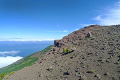 Mountainside in the west of El Hierro Royalty Free Stock Photography