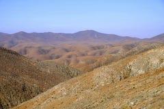 Mountainsin Betancuria op Fuerteventura, Spanje stock fotografie