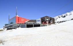 Mountainstation Eisseebahn, ghiacciaio di Molltaler Immagine Stock