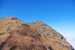Mountaintop και βράχοι Στοκ Εικόνες