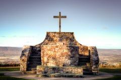 Mountaintop Cross Stock Image