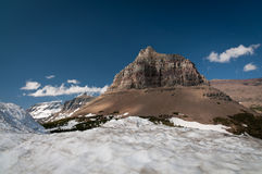 Mountaintop at Glacier National park Royalty Free Stock Images