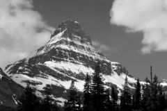 Mountaintop in Glacier Park stock photography