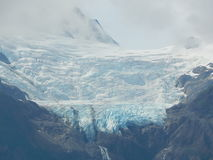 Mountaintop glacier royalty free stock images