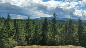 Mountaintop. Overlook at Cottle Lake park Royalty Free Stock Photos