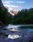 Mountaintop Reflection Stock Photos
