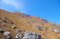 Mountaintop and rocks Royalty Free Stock Photography