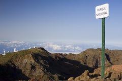 Mountaintop sign Stock Image
