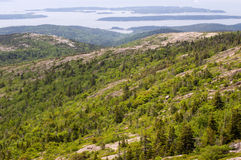 Mountaintop view at Acadia Stock Photo