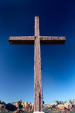 Mountaintop Wooden Cross royalty free stock photography