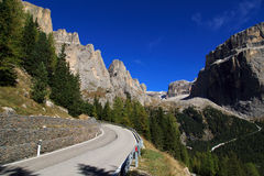 The mountaintops of the Dolomites Stock Images